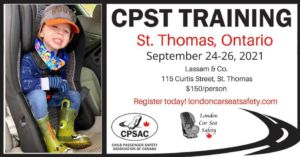 Poster to advertise car seat training